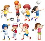 Соревнования по волейболу.
