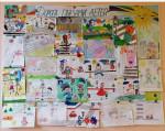 Новости из детского сада «Золотой петушок».  Выставка рисунков «Дорога глазами детей»